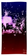 Red White And Blue Fireworks Beach Towel