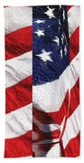 Red White Blue - American Stars And Stripes Beach Towel