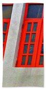 Red Windows Beach Sheet