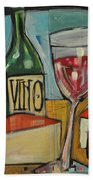 Red Wine And Cheese Beach Towel