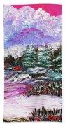 Red Winter Berries Beach Towel
