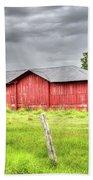 Red Wood Barn - Edna, Tx Beach Towel