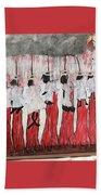 Red Woods Angels Black Like Me Beach Towel