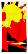 Red Yellow Abstract Beach Towel