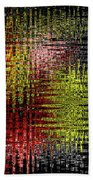 Red Yellow White Black Abstract Beach Towel