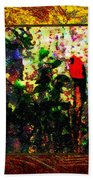 Redbird Sifting Beauty Out Of Ashes Beach Towel