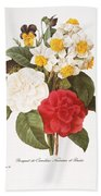 Redoute: Bouquet, 1833 Beach Towel