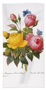 Redoute: Roses, 1833 Beach Towel