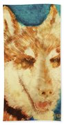 Red's Wolf Beach Towel