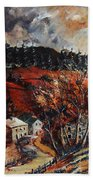 Redu Village Belgium Beach Towel