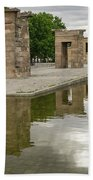 Reflecting On Millennia - Egyptian Temple Of Debod In Madrid Spain  Beach Towel