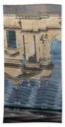 Reflecting On Noto Cathedral Saint Nicholas Of Myra - Sicily Italy Beach Towel
