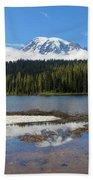 Reflection Lakes In Mount Rainier National Park Beach Sheet
