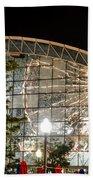 Reflection Of Navy Pier Ferris Wheel Beach Towel