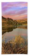 Reflection Of Scenic High Desert Landscape In Central Oregon Beach Towel