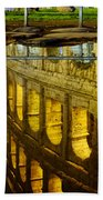 Reflection Of The Colosseum Beach Towel