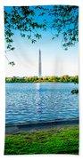 Reflection Of Washington Beach Towel
