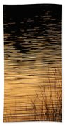 Reflection On A Sunset Beach Towel
