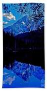 Reflection On String Lake Beach Towel
