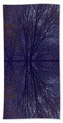 Reflection On Trees In The Dark Beach Towel