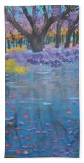 Reflection Pond Japan Beach Towel