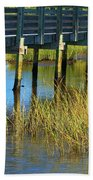 Reflections And Sea Grass Beach Towel