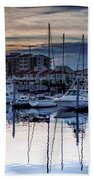 Reflections At Sunset Beach Towel