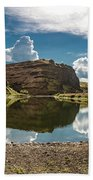 Reflections At The Pond Beach Towel