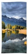 Reflections In Canmore Beach Towel