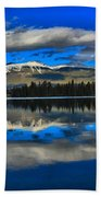 Reflections In Lac Beauvert Beach Towel