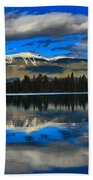Reflections In Lake Beauvert Beach Towel