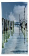 Reflections In The Marina Beach Towel