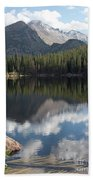 Reflections Of Majestic Mountains Beach Towel