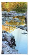 Reflections On Rocky Creek 2 Beach Towel