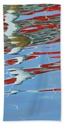 Reflections - Red White Blue Beach Towel