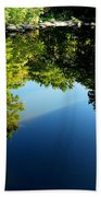 Reflections Trees Beach Towel