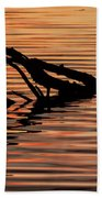 Reflective Abstract Beach Towel