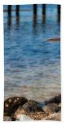 Regal Great Blue Heron Beach Towel