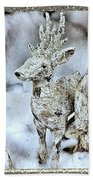 Reindeer And Owls Holiday Celebration 2 Beach Towel