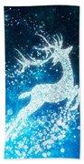 Reindeer Stars Beach Towel