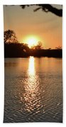 Relax By The Lake Beach Towel