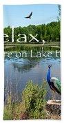 Relax Lake Time-jp2737 Beach Towel