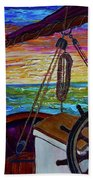 Release The Sails Beach Towel by Jacqueline Athmann