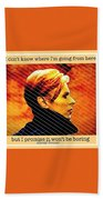 Remembering David Bowie Beach Towel