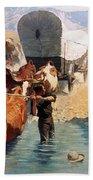 Remington: The Emigrants Beach Towel