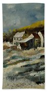 Remote Houses In The Ardennes  Beach Towel