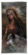 Rena Indian Warrior Princess Beach Towel