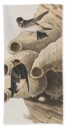 Republican Or Cliff Swallow Beach Towel