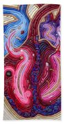 Resilient Heart Beach Towel by Arla Patch