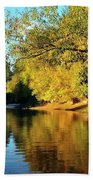 Yamhill River Reflections Beach Towel